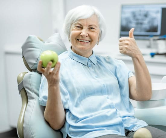 Get immediate dentures for your dental health and a perfect smile.