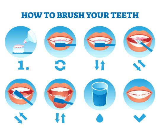 Do not hurry while brushing your teeth; follow these simple steps.